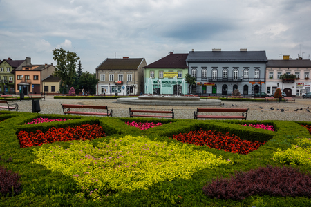 Lowicz, Poland - 23 July 2017 - View on historic buildings on the market Editorial