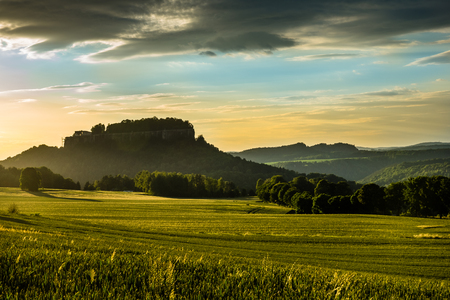 View on the Koenigstein fortress in Saxon Switzerland, Germany