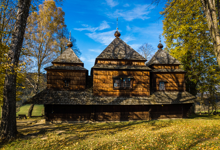 Wooden orthodox church of Sts. Archangel Michael in Smolnik village, Bieszczady, Poland