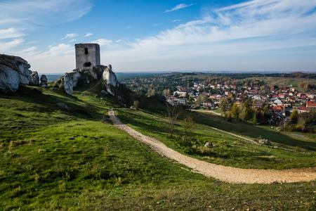 Castle ruins in Olsztyn near Czestochowa, Silesia, Poland