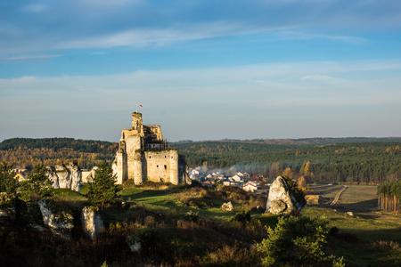 Castle in Mirow on the Jura Krakowsko-Czestochowska, Poland