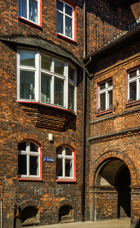 Old building in Historical district Nikiszowiec in Katowice, Silesian, Poland