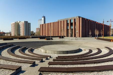 Katowice, Poland - 01 April 2017 - Polish National Radio Symphony Orchestra building in Katowice, Silesia