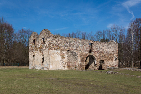 Ruins of the smelter in Samsonow, Poland