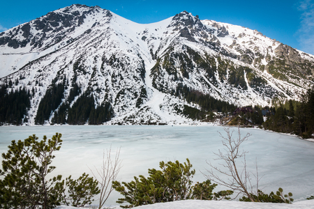 Tatra mountains at winter from Morskie Oko, Karpaty, Poland