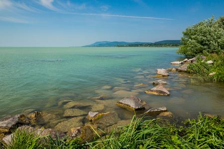 Balaton lake in Revfulop, Hungary