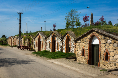 Wine cellars in Vrbice village, Moravia, Czech Republic