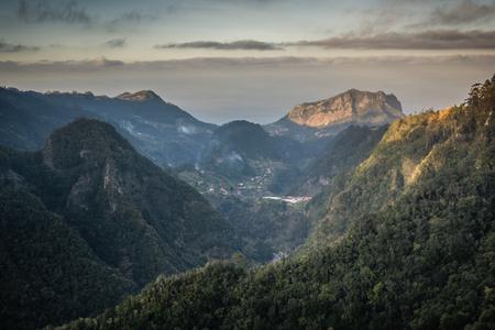 View from Balcoes viewpoint in Ribeiro Frio, Madeira, Portugal
