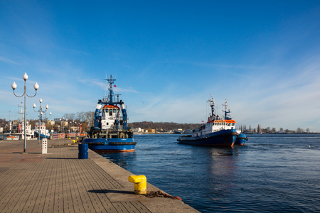 Ship in the port in Gdynia, Pomorskie, Poland