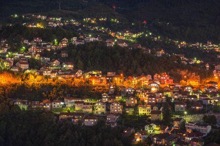 Night panorama of the city of Sarajevo, Bosnia and Herzegovina