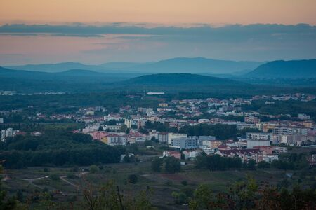 View on the Medjugorje city, Bosnia and Herzegovina