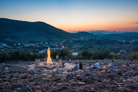 Standbeeld van de Maagd Maria in Medjugorje, Bosnië en Herzegovina