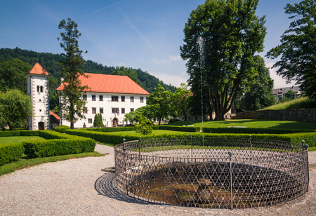 Palace and park in Polhov Gradec, Upper Carniola, Slovenia