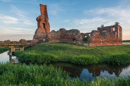 Medieval knights castle in Biesiekiery, Poland