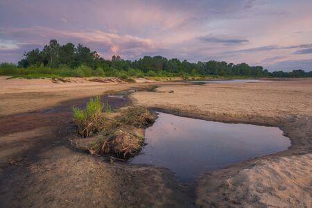Morning on the Vistula River somewhere in Masovia, Poland