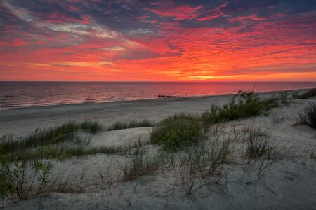 Sunrise over the Baltic sea in Dziwnow, Poland Reklamní fotografie
