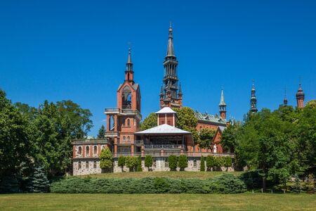 Church in Stary Lichen, Wielkopolskie, Poland Reklamní fotografie