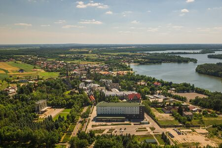 View from tower at the basilica in Stary Lichen, Wielkopolskie, Poland Reklamní fotografie