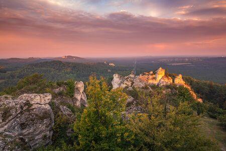 Mount Zborow - Rocky hill in the Jura Krakowsko-Czestochowska, Silesia, Poland Stock Photo - 130068147