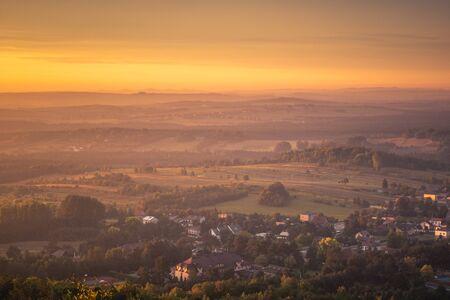 View from mount Zborow - Rocky hill in the Jura Krakowsko-Czestochowska, Silesia, Poland Stock Photo - 130068149