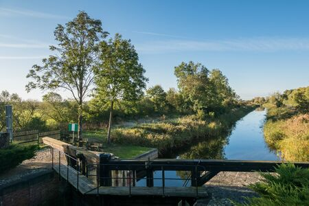 Historic lock on the Augostowski canal in Debowo, Podlaskie, Poland Фото со стока