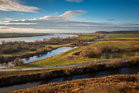 Vistula River Valley in Gniew, Pomorskie, Poland