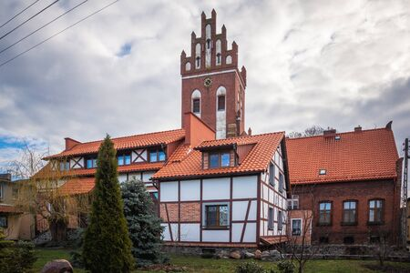 Historic old buildings in Gniew, Pomorskie, Poland