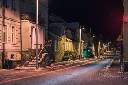 Kajki street in Mikolajki, Masuria, Poland