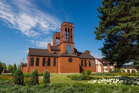 Church of the Savior of the World in Ostroleka, Mazowieckie, Poland 免版税图像