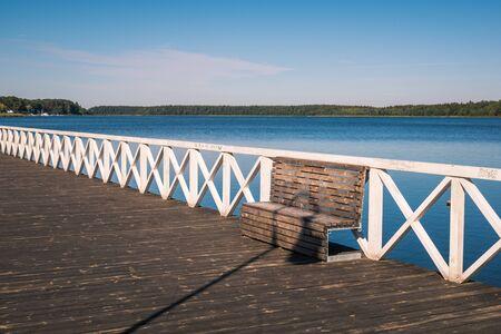 Pier on Lake Necko in Augustow, Podlaskie, Poland