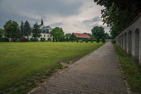 Park near Church in Gora Kalwaria, Masovia, Poland
