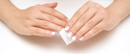 Nail care on a white background photo