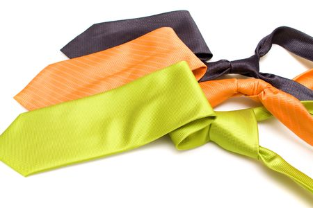 Ties on a white background photo
