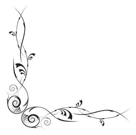vectorisées élément d'angle florale