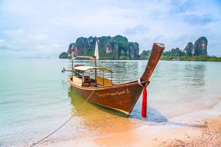 nautical   vessel: Thailand, Nautical Vessel, Beach, Thai Culture Stock Photo