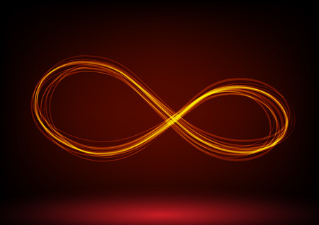 ray light: line infinity symbol. Vector illustration