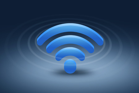 Wireless Network Symbol. wifi wave