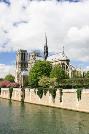 notre dame: Notre Dame Carhedral in Paris, France Stock Photo
