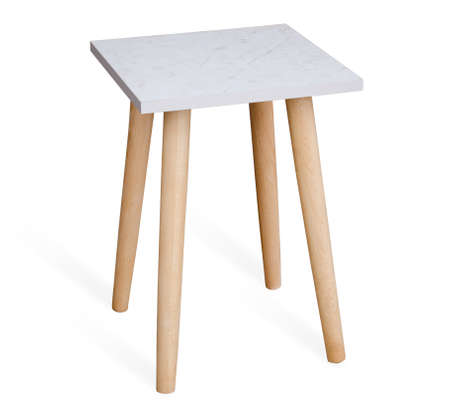 wooden stool: Wooden stool isolated on the white background
