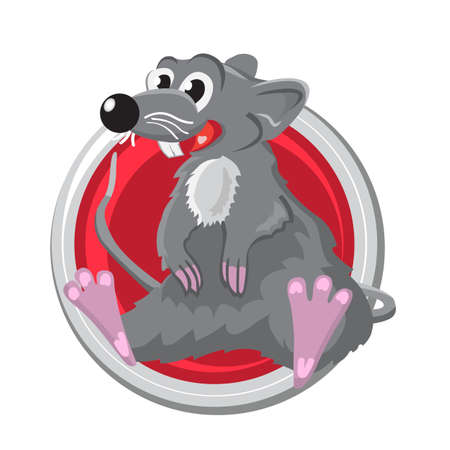 orient: Rat. Orient horoscope sign isolated in circle. Chinese symbols. Zodiac.