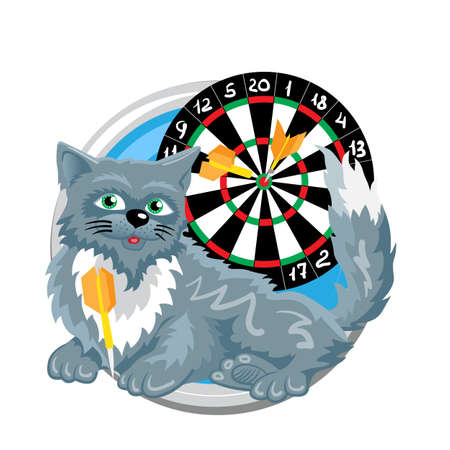 bowman: Sagittarius. Horoscope sign in circle isolated. Cat. Zodiac