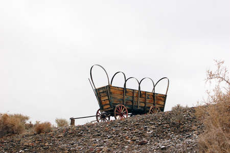 covered wagon: Old Covered Wagon on a hill