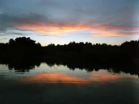 Evening reflection off Ganger Lake, Texas.