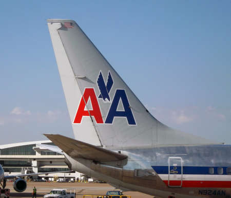 american airlines: American Airlines Boeing 737 Tail Section Editorial