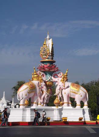 pink elephant: Pink Elephant Statue in Bangkok Thailand