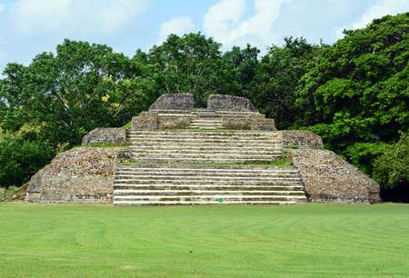 alter: Altun Ha Mayan Ruins Alter Stock Photo