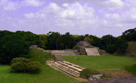 tourism in belize: Altun Ha Mayan Ruins from above