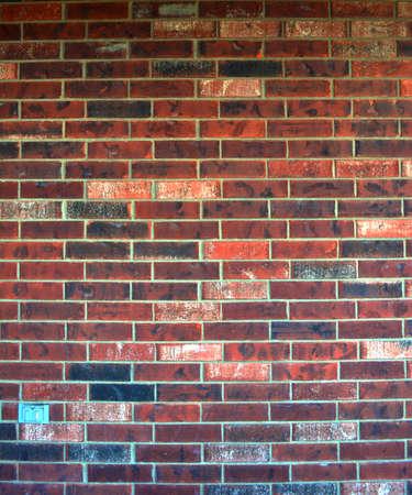 vertical composition: Vertical composition of Red brick pattern Stock Photo