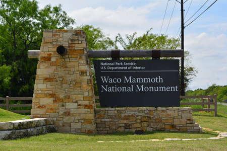 Waco Mammoth National Monument Sign