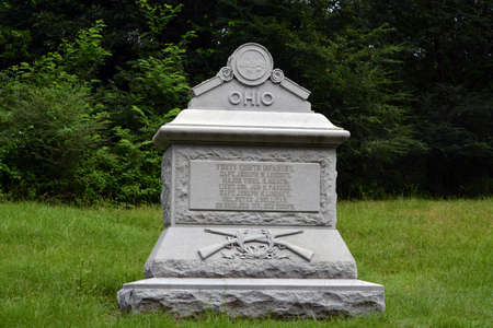 Ohio military monument in Vicksburg cemetary